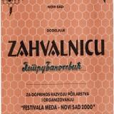 Zahvalnica Novi Sad